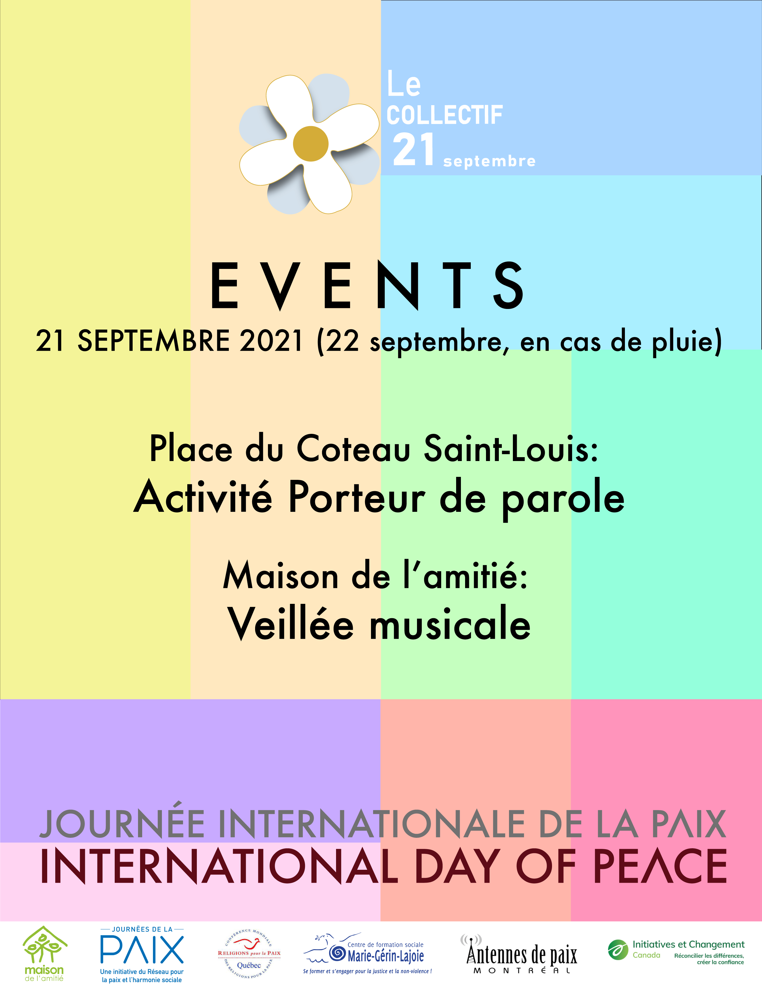 Events 21 Sept 2021